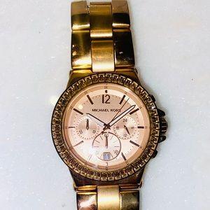 Michael Kors Rose Gold watch w/ rhinestones